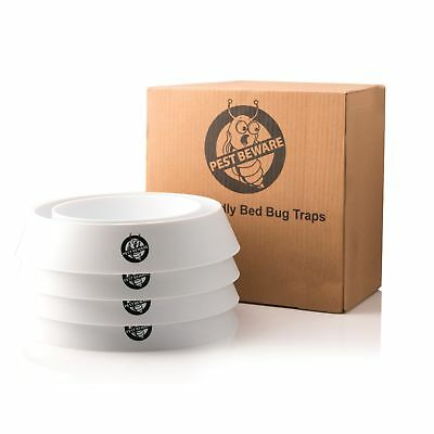 Pest Beware Bed Bug Trap Repeller Interceptors Large Bedbug Interceptor Cups ...