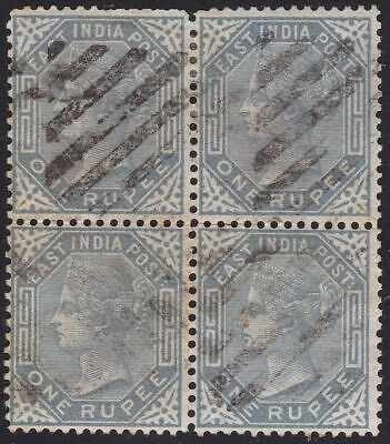 1874 INDE, SG 79 block of 4 USED