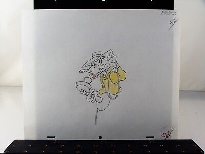 """Vintage Warner Bros Daffy Duck production drawing from """"Boston Quacky"""" ca.1957"""