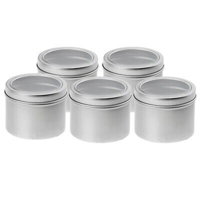 20x 100ml Round Aluminum Cans Screw Lid Empty Tins Jars Slip Slide Container