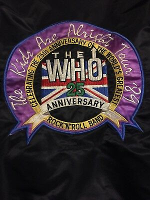 Vintage The Who 25th Anniversary Jacket 1989 The Kids Are Alright Tour!!!