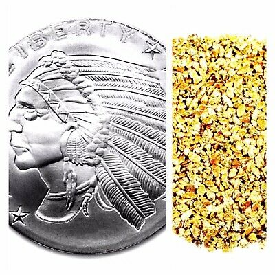 1 Troy Oz .999 Silver Incuse Indian Bu + 10 Piece Alaskan Pure Gold Nuggets