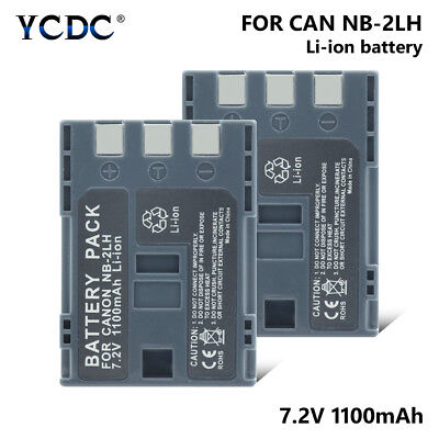 2X Battery NB-2LH NB 2LH For Canon Elura 40 MC 50 60 70 80 85 90 EOS 350D 400D