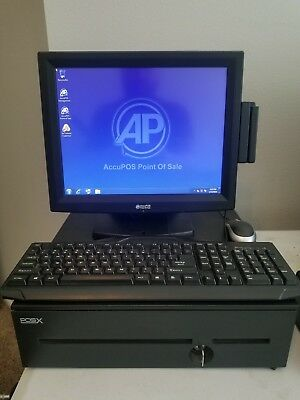 POSX POS-X Terminal ION-TP2 w/Heavy Duty Cash Drawer and Card Reader