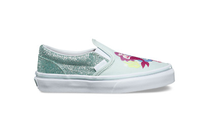 9c05173008c8 Vans Classic Slip On Mermaid Multi True White Skate Shoes 12 Kids