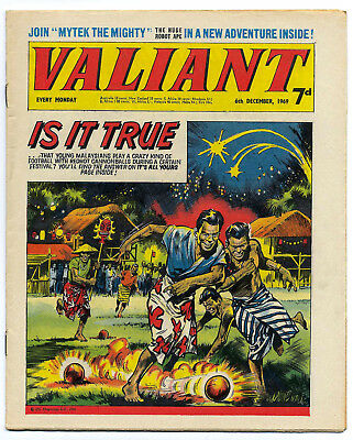 Valiant 6th Dec 1969 (a top grade copy) Steel Claw, Mytek, Kelly's Eye