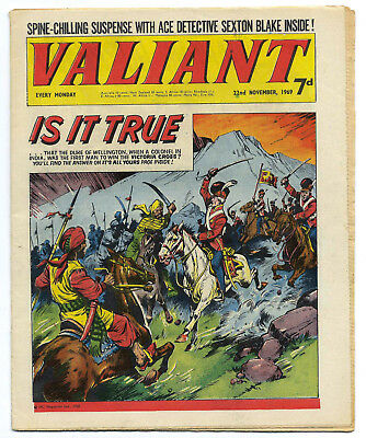 Valiant 22nd Nov 1969 (near top grade) Steel Claw, Mytek the Mighty, Kelly's Eye