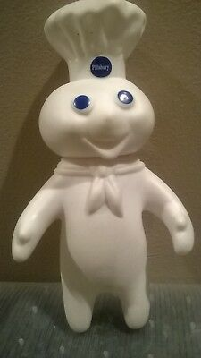 "1971 Vintage Pillsbury Doughboy Dough Boy 7"" Vinyl Rubber Plastic Doll Head Turn"