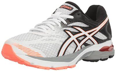 Asics GEL FLUX 4 Womens Running Shoes Size 12 NEW WHITE SNOW FLASH CORAL