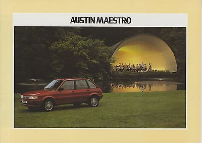 AUSTIN - Maestro brochure/prospekt/folder Dutch 1984