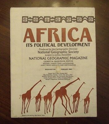 National Geographic Map Africa It's Political Development February 1980