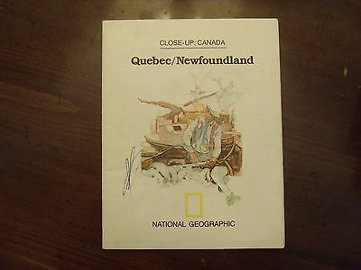 National Geographic Map Close-Up Canada Quebec/Newfoundland May 1980