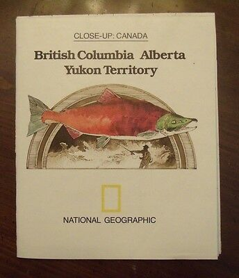 National Geographic Map Close-Up Canada British Columbia Alberta Yukon Apr 1978