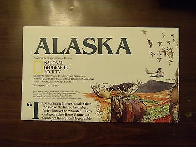 National Geographic Map Alaska Historical Native Federal Information May 1994