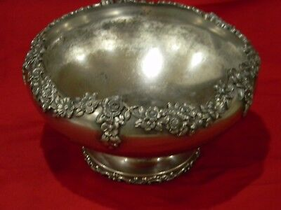 Vintage Silver Bowl By The Meriden Silver Plate Co # 01579 U S A