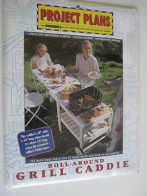 1995 KC Publishing Workbench Project Plans Roll Around Grill Caddy NOS