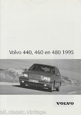 VOLVO - 440 460 480 brochure/prospekt/folder Dutch 1995