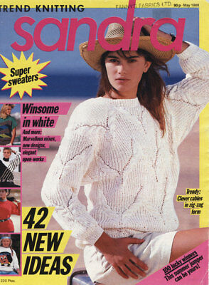 Vintage SANDRA Trend Knitting Mag - May 1988 - 'Super Sweaters' - '42 New Ideas'