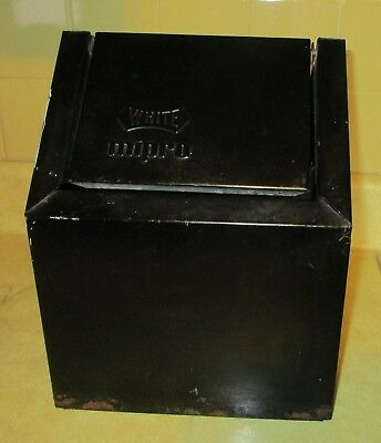 Vintage White Mipro Small Metal & Galvanized Trash Can