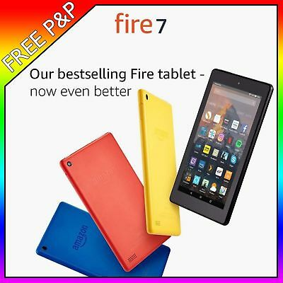 New Amazon Kindle Fire 7 Tablet with Alexa, 8 GB Black 7th Gen Wi-fi Sealed 2018