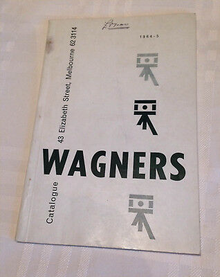 1964 Vintage Wagners Photography Catalogue