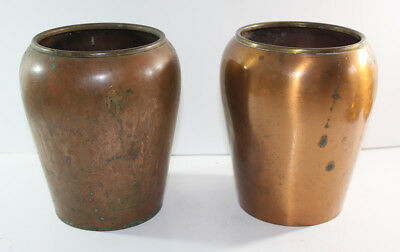 VINTAGE CHASE Pair of Copper VASES Art Deco 1930s