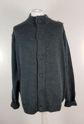 Woolovers Mens Heavyweight Pure Wool Sweater Jumper Cardigan XL Winter NEW