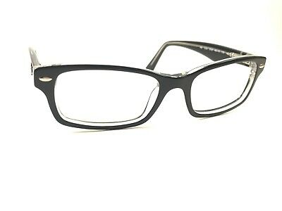 001ca7a4db Authentic Ray Ban Juniors RB1530 3529 Black on Clear Rx Eyeglasses Frames  48 16