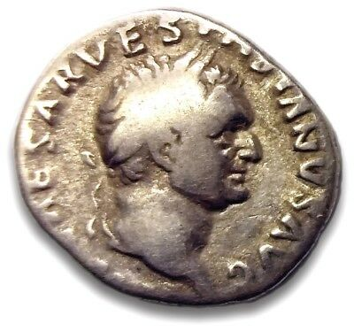 Ancient Coin, Roman Empire, Vespasian Denarius, Judaea Capta, 69–79 BC