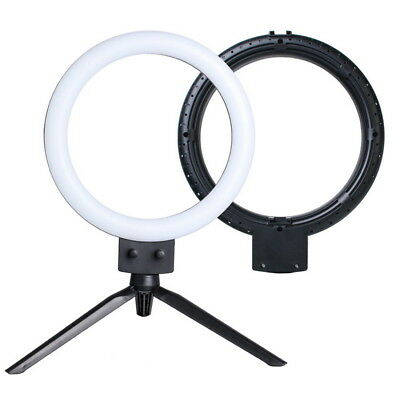 "7"" Dimmable LED Ring Light Kit with Tabletop Tripod 5500k Camera Photo Video"