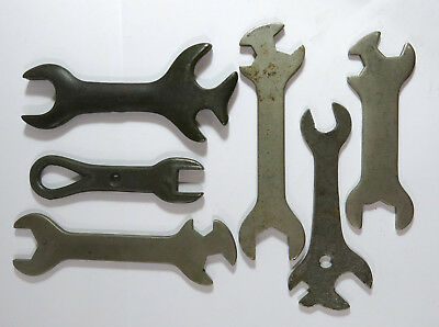 Lot of 6 Antique Singer/Greist and Other Sewing Machine Wrenches