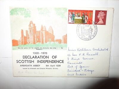 Declaration Of Scottish Independence G.b. Arbroath & District Philatelic Cover