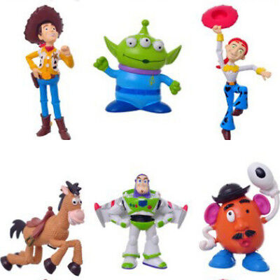 6 PCS Toy Story Woody Alien Cartoon Action Figure Cake Topper Gift Doll Toys US