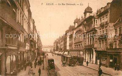 13478853 Lille_Nord Rue Nationale Strassenbahn Lille_Nord