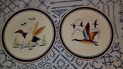 American Pottery Stangl Pottery Canvass Back & Canada Goose 2 Plates