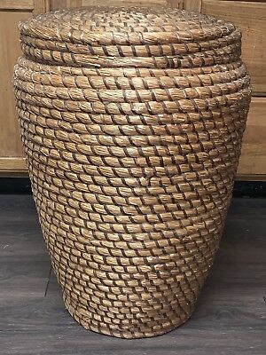Antique 1800s 19th C Woven Rye Basket PA Rare Form From Gettysburg Pennsylvania