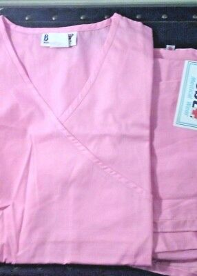 Women's scrub set top & bottoms by Best Medical Wear size S NWT pink