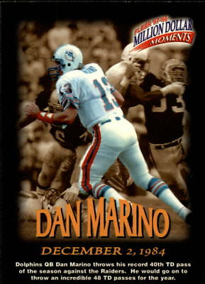 1997 Fleer Million Dollar Moments #22 Dan Marino - NM-MT