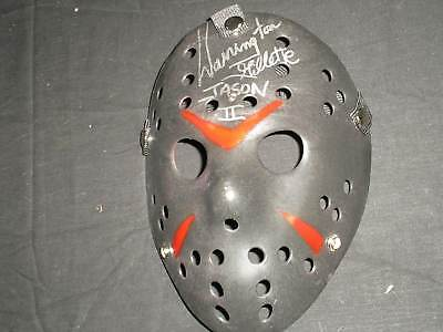 WARRINGTON GILLETTE Signed Hockey MASK JASON Voorhees Friday the 13th Part 2