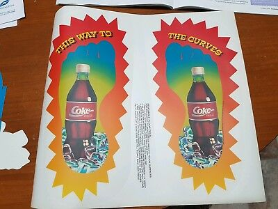 Coca Cola Banned/ Recalled Feel The Curves Floor Decals