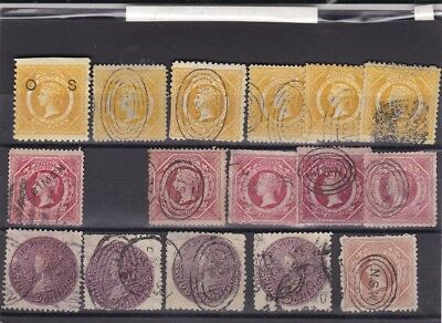 STAMPS..Australia,,New South Wales ,,1860-88, eight pence/ one shillings ,5/-