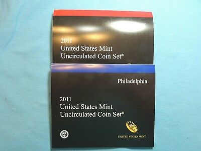 2011 Uncirculated Mint Set  Denver & Philadelphia Minted Sets  28 Coins