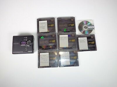 Sony Walkman Net MD MZ-NE410 Mini Disc player recorder with 8 MiniDiscs Tested