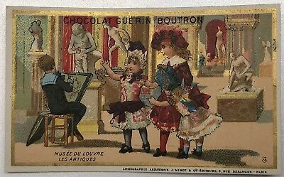 RARE antique guerin Boutron Trade Card Chromo