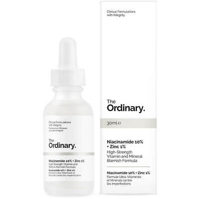 The Ordinary Niacinamide 10% + Zinc 1%  Full Size 30ml/1oz NIB