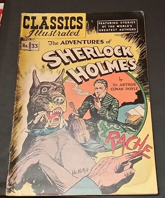 Vintage Classics Illustrated No. 33 The Adventures Of Sherlock Holmes
