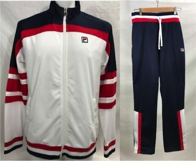 8b61eace17a3 New FILA Mens Fitness Hockey Heritage Tracksuit Jacket Pants Set Blue SZL  XL 2XL