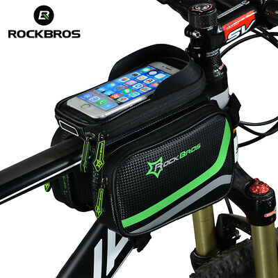 RockBros Bicycle Frame Bag Pannier Tube Bag Touchscreen Bike Phone Holder Bag