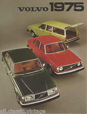 VOLVO - Range leaflet brochure/prospekt/folder Dutch 1975