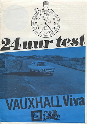 Vauxhall Viva 24 Hours Test Dutch Magazine Report 1967